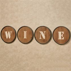 Wine Wall Art Brown Set of Four