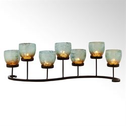 Pacifica Tealight Candleholder Centerpiece Black