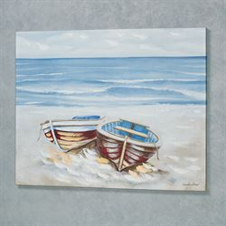 Boat Duo Canvas Wall Art Multi Earth