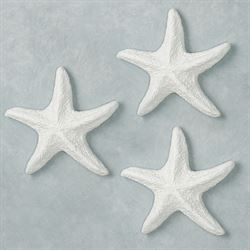 Aiden Starfish Wall Art White Set of Three