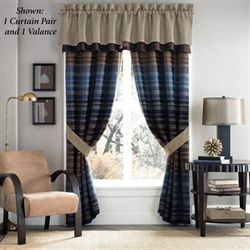 Clairmont Tailored Curtain Pair Multi Warm 82 x 84