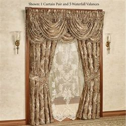 Bradshaw Wide Tailored Curtain Pair Natural 100 x 84