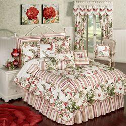Butterfly Garden Quilt Set Ivory