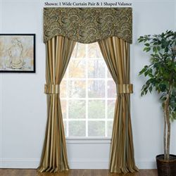 Park Place Wide Tailored Curtain Pair Multi Warm 100 x 84