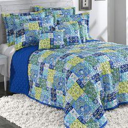Kendall Quilted Bedspread Aqua