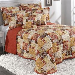 Kendall Quilted Bedspread Ember Glow