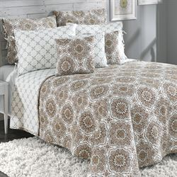 Trina Reversible Quilted Bedspread Cocoa