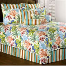 Island Paradise Comforter Set Light Cream