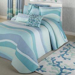 Tides Grande Bedspread Cerulean Blue