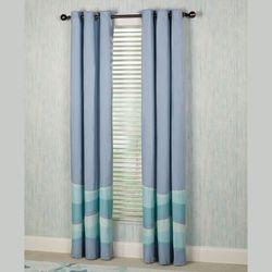 Tides Grommet Curtain Pair Cerulean Blue 84 x 84