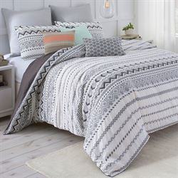 Ancient Abstract Mini Comforter Set Charcoal