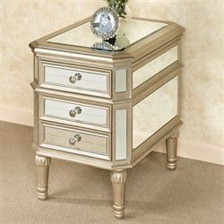 Hadleigh Mirrored Side Table Champagne Gold