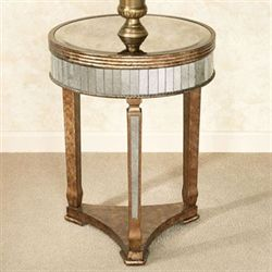 Bella Mina Mirrored Accent Table Venetian Gold