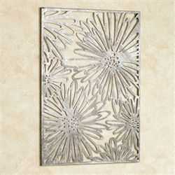 Zinnia Flower Wall Art Pewter