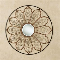Gwendolyn Mirrored Wall Grille Bronze