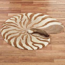 Chambered Nautilus Rug Beige