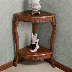 Victoriana Corner Pedestal TableNatural Cherry