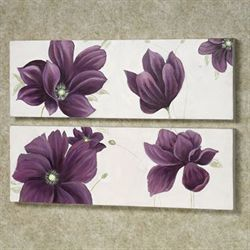 Floral Whispers Canvas Art Set Purple Set of Two