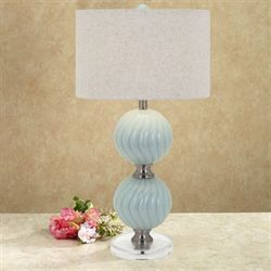 Aramis Table Lamp Blue Each with CFL Bulb