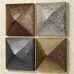 Marquisa Modern Wall Art Multi Metallic Set of Four