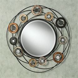 Orbiting Spheres Wall Mirror Multi Metallic