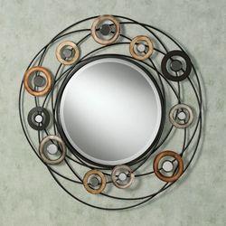 Orbiting Spheres Wall Mirror Multi Metallic