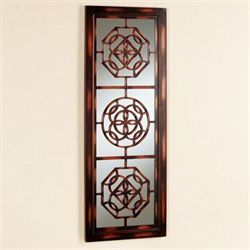 Artemisa Mirrored Wall Panel Brown