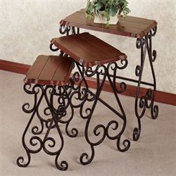 Worthington Nesting Table Set Regal Walnut Set of Three