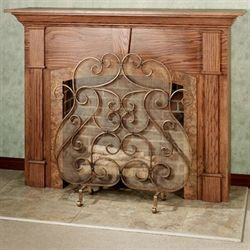 Castleton Fireplace Screen Antique Gold