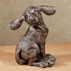 Wally Pup Table Sculpture Chestnut