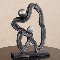 Loves Devotion Sculpture Silver Gray