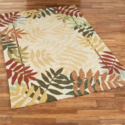 Painted Rainforest Rectangle Rug Multi Earth