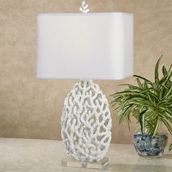 Ocean Treasures Coral Table Lamp White