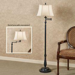 Jeffrey Swivel Arm Floor Lamp Dark Gray