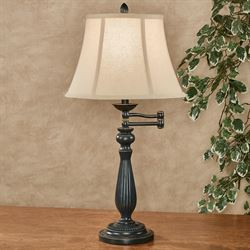 Jeffrey Swivel Arm Table Lamp Dark Gray