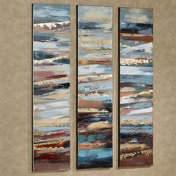 Cool Breeze Abstract Canvas Wall Art Multi Earth Set of Three