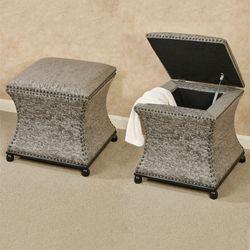 Roxi Storage Ottoman Gray