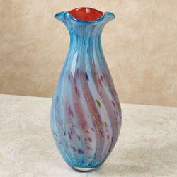 Imogen Art Glass Table Vase Multi Bright
