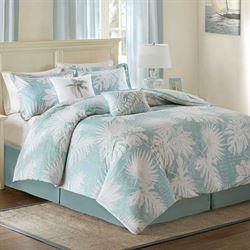 Tropical Grove Comforter Bed Set Harbor Blue