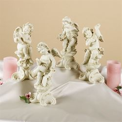 Playful Cherubs Sculpture Set  Set of Four