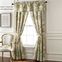 Antibes Wide Tailored Curtain Pair Natural 100 x 84