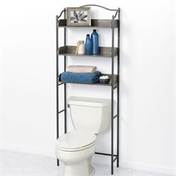 Driftwood Bathroom Space Saver Pewter