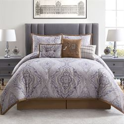 Venetian Comforter Bed Set Steel Blue