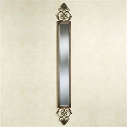 Taneisha Scroll Mirror Panel Beige/Brown