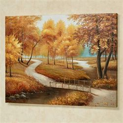 Autumn Stroll Canvas Wall Art Multi Earth