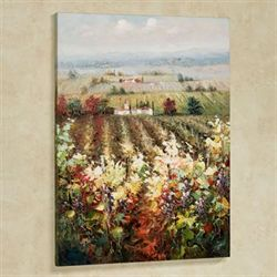 Vineyard View Canvas Wall Art Multi Warm