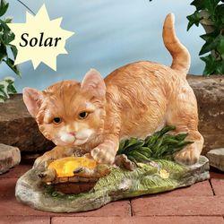 Playful Friends Solar Accent Sculpture Gold