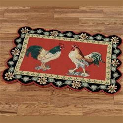Barnyard Rooster Rectangle Rug