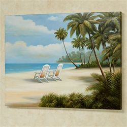 A Day in Paradise Canvas Wall Art Multi Bright
