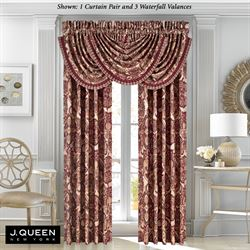 Rosewood Wide Tailored Curtain Pair Burgundy 100 x 84